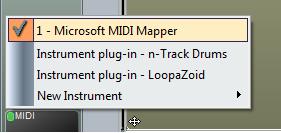 N MIDI instrument list