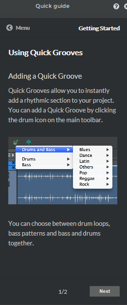 n-Track Quick Grooves